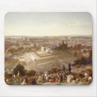 Jerusalem in her Grandeur, engraved by Charles Mot Mouse Pad