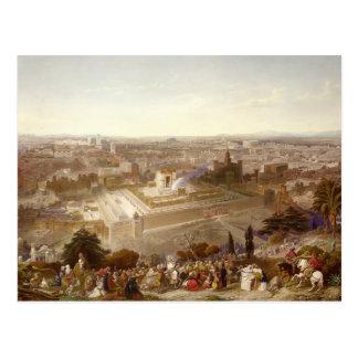 Jerusalem in her Grandeur, engraved by Charles Mot Postcard