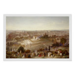 Jerusalem in her Grandeur, engraved by Charles Mot Poster