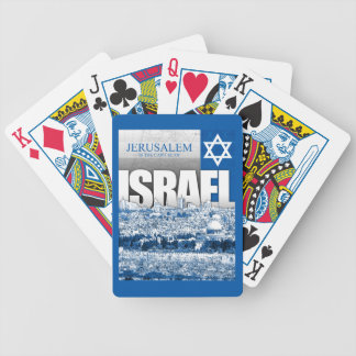 Jerusalem, Israel Bicycle Playing Cards