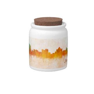 Jerusalem Israel City Skyline Candy Jar