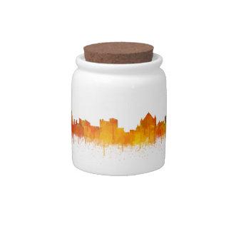 Jerusalem Israel City Skyline v2 Candy Jars