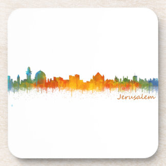 Jerusalem Israel City Skyline v2 Coaster