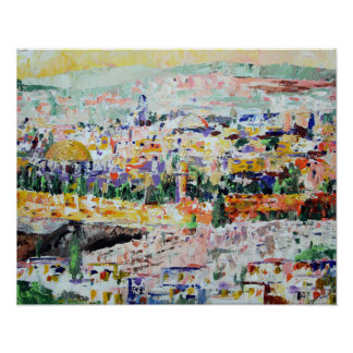 Jerusalem Israel Impressionistic Painting Posters