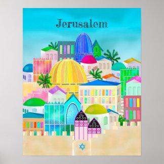 Jerusalem Israel Travel Poster