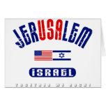 "Jerusalem  (Jer""USA""lem) USA - Israel Greeting Cards"