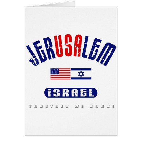 "Jerusalem  (Jer""USA""lem) USA - Israel Card"