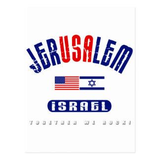 "Jerusalem  (Jer""USA""lem) USA - Israel Postcard"
