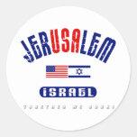 """Jerusalem  (Jer""""USA""""lem) USA - Israel Stickers"""