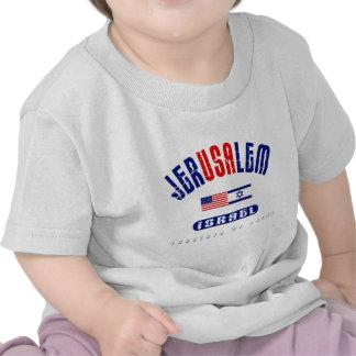"Jerusalem  (Jer""USA""lem) USA - Israel T-shirts"