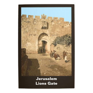 Jerusalem - Lions Gate Metal Photo Print