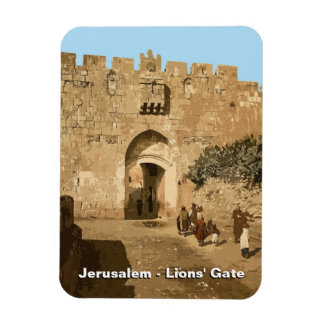 Jerusalem - Lions' Gate Rectangular Photo Magnet