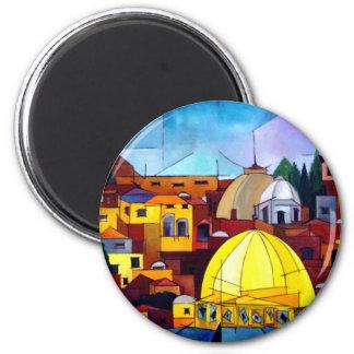 Jerusalem 2 Inch Round Magnet