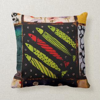 Jerusalem Market Tile Throw Pillows