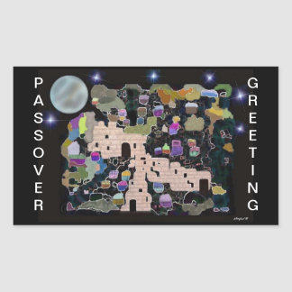 Jerusalem Moon Passover Stickers