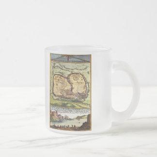 Jerusalem 10 Oz Frosted Glass Coffee Mug