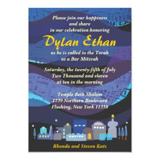 Jerusalem Musical Sky Bar Bat Mitzvah Invitation
