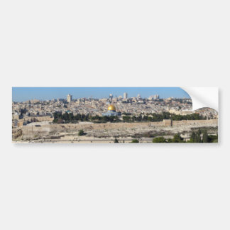 Jerusalem Panorama From Mount of Olives Bumper Sticker