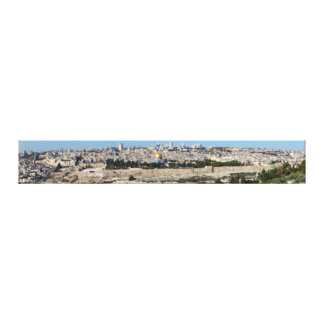 Jerusalem Panorama From Mount of Olives Canvas Print