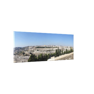 Jerusalem Panorama Stretched Canvas Prints