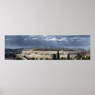 Jerusalem Panorama Tempestade Posters
