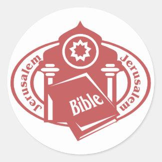 Jerusalem Stamp Classic Round Sticker