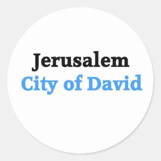 Jerusalem Round Stickers