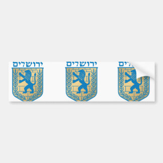 Jerusalem t arms, Italy Bumper Sticker
