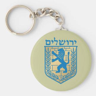 Jerusalem t arms, Italy Basic Round Button Keychain