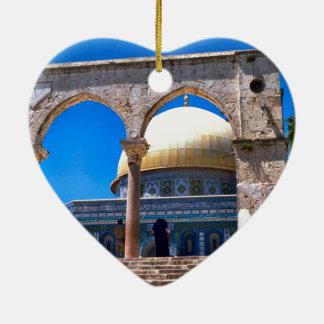 Jerusalem, the Dome of the Rock Ceramic Ornament