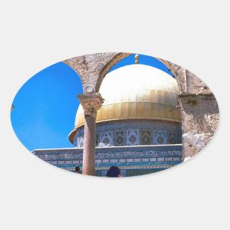 Jerusalem, the Dome of the Rock Oval Sticker
