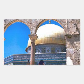 Jerusalem, the Dome of the Rock Rectangular Sticker