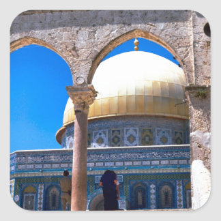 Jerusalem, the Dome of the Rock Square Sticker