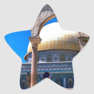 Jerusalem, the Dome of the Rock Star Sticker