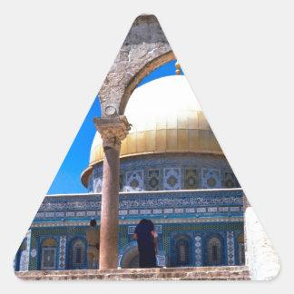 Jerusalem, the Dome of the Rock Triangle Sticker