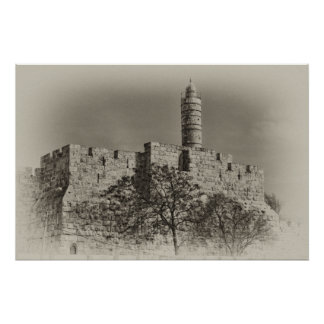 Jerusalem Tower of David Poster