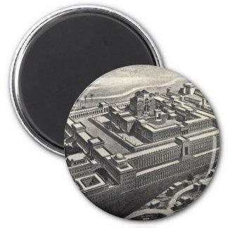 Jerusalem ugglan 2 inch round magnet
