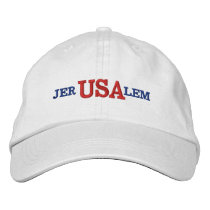 Jerusalem USA Embroidered Baseball Cap