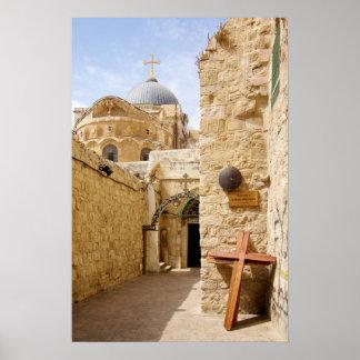 Jerusalem Via Dolorosa Station IX of the Cross Poster