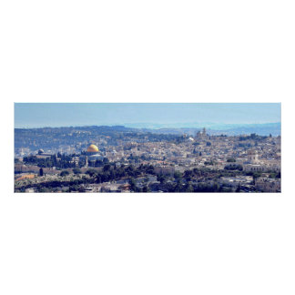 Jerusalem (viewed from Mt. Scopus) canvas Poster