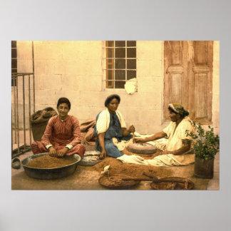Jerusalem Women Grinding Corn 1895 Poster
