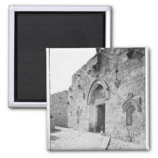 Jerusalem Zion Gate 2 Inch Square Magnet