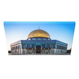 Jerusalén - bóveda de la roca lona envuelta para galerias