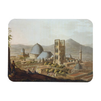 Jerusalén con la iglesia del sepulcro santo, p imán foto rectangular