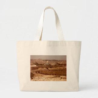 Jerusalén del bolso de la lona del oro bolsas de mano