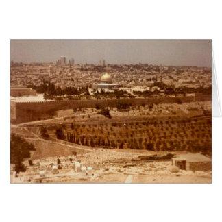 Jerusalén del oro tarjeta pequeña