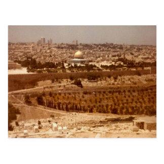 Jerusalén del oro postal