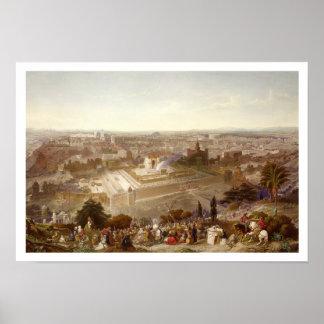 Jerusalén en su grandeza, grabada por Charles Mot Impresiones