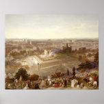 Jerusalén en su grandeza, grabada por Charles Mot Posters