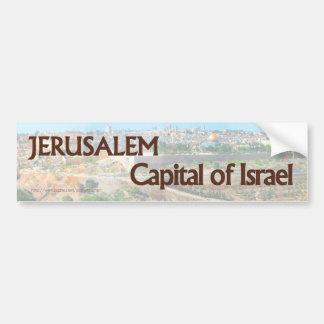 Jerusalén ES la capital de la pegatina para el par Etiqueta De Parachoque